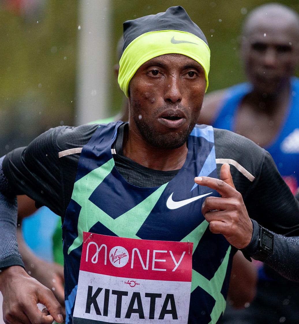 Tola Shura Kitata at the 2020 Virgin Money London Marathon