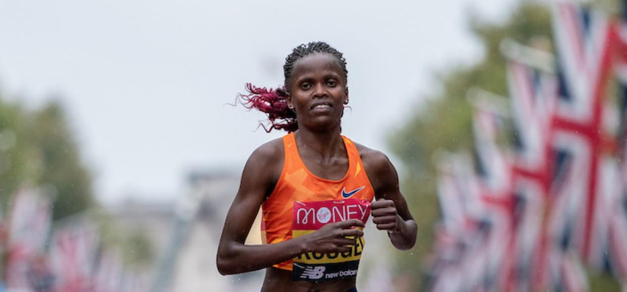 Brigid Kosgei wins the 2020 Virgin Money London Marathon